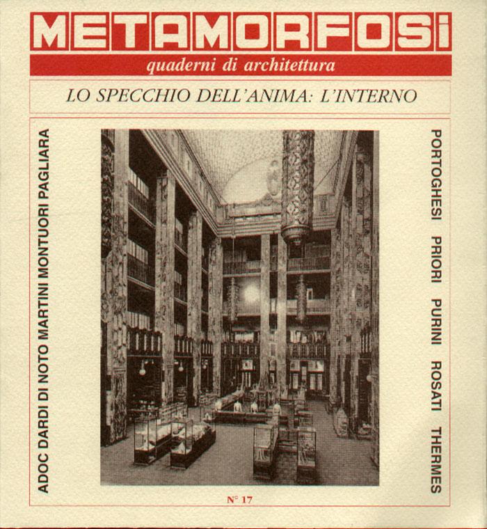 metamorfosi quaderni di architettura n 17 1992