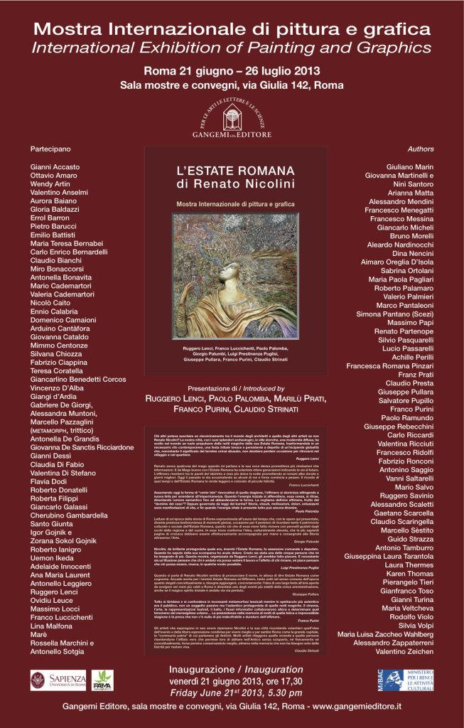Locandina mostra Estate romana - Nicolini